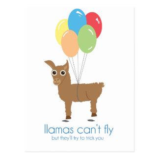 Cartão Postal Os lamas não voam