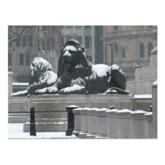 Cartão Postal Os Leões-Trafalgar Londres quadrada