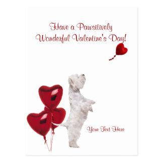 Cartão Postal Os namorados maravilhosos de Westie Pawsitively