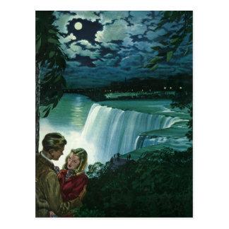 Cartão Postal Os Newlyweds do vintage em Niagara Falls, salvar a