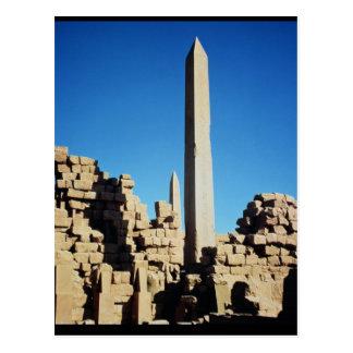 Cartão Postal Os Obelisks de Tuthmosis mim e Hatshepsut