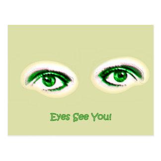 Cartão Postal Os olhos vêem-no!