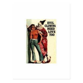Cartão Postal Os palhaços maus precisam o amor, demasiado