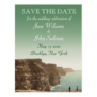 Cartão Postal Os penhascos irlandeses do tema do casamento de