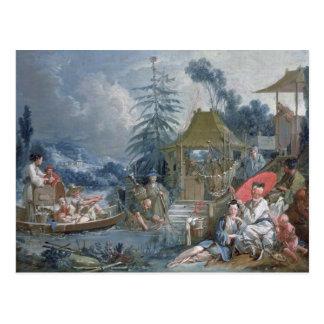 Cartão Postal Os pescadores chineses, c.1742