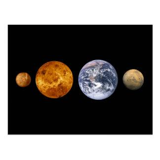 Cartão Postal Os planetas internos