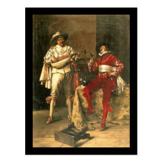 Cartão Postal Os prazeres dos cavalheiros de Adolfo Alexandre