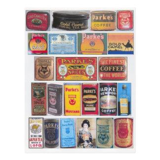 Cartão Postal Os produtos de Parke