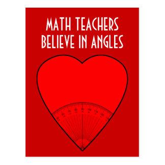 Cartão Postal Os professores de matemática acreditam nos ângulos