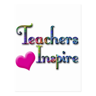 Cartão Postal Os professores inspiram com coração cor-de-rosa