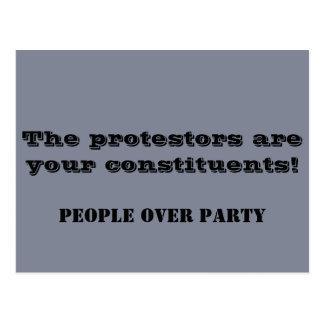 Cartão Postal Os protestadores são seus componentes! Político