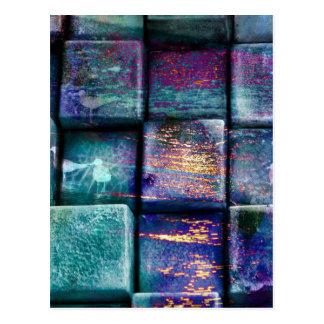 Cartão Postal Os quadrados coloridos dos blocos dos cubos
