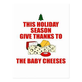 Cartão Postal Os queijos do bebê
