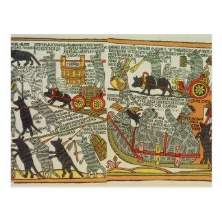 Cartão Postal Os ratos enterram o gato, russo, fim do século