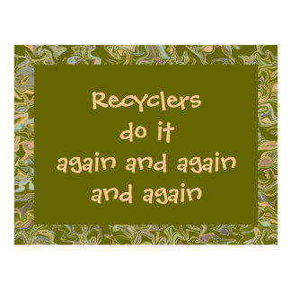 Cartão Postal Os reciclador fazem-no outra vez