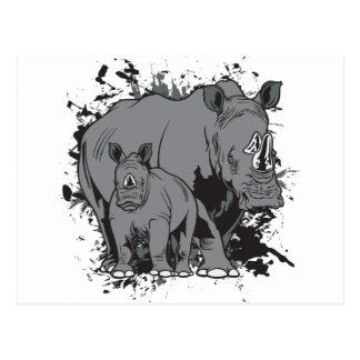 Cartão Postal Os Rhinos