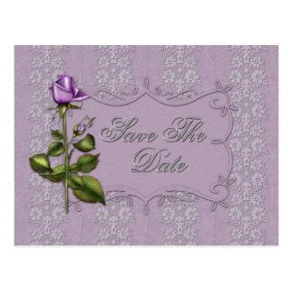 Cartão Postal Os rosas e a prata da lavanda do vintage salvar a