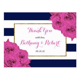 Cartão Postal Os rosas Luxe modernos chiques do rosa da coleção