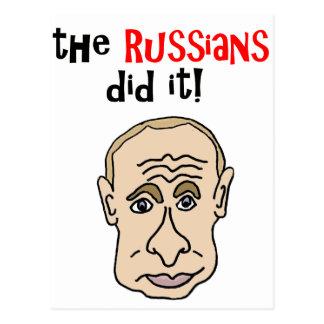 Cartão Postal Os russos fizeram-no desenhos animados de Putin