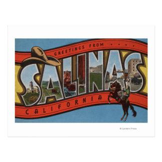 Cartão Postal Os Salinas, Califórnia - grandes cenas da letra -