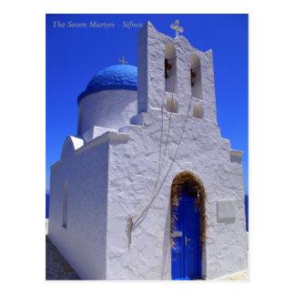 Cartão Postal Os sete mártir - Sifnos