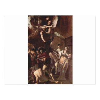 Cartão Postal Os sete trabalhos do compaixão por Caravaggio