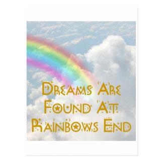 Cartão Postal Os sonhos são encontrados na extremidade dos