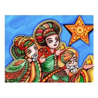 Cartão Postal Os três reis