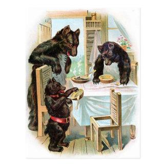 Cartão Postal Os três ursos
