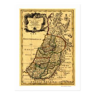 Cartão Postal Os tribos de Israel no mapa de PalestinePanoramic