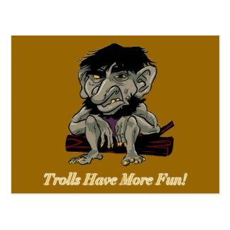 Cartão Postal Os troll têm mais divertimento