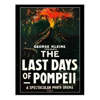 """Cartão Postal """"Os últimos dias poster filme de Pompeii"""""""