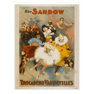 Cartão Postal Os vaudevilles de Sandow Trocadero, poster 1894