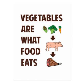 Cartão Postal Os vegetais são o que a comida come