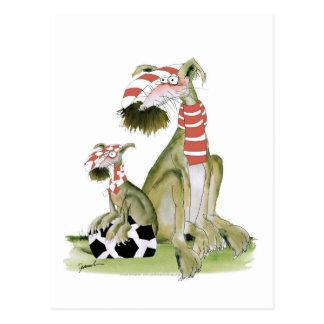 Cartão Postal os vermelhos do futebol, como o pai gostam do