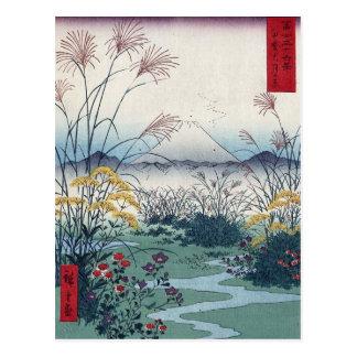 Cartão Postal Otsuki coloca por Hiroshige, japonês do vintage