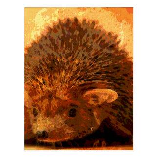 Cartão Postal ouriço adorável