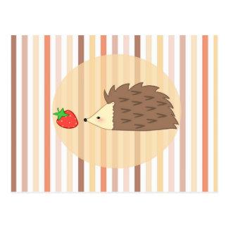 Cartão Postal Ouriço e morango
