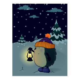 Cartão Postal Ouriço na noite