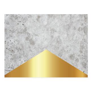 Cartão Postal Ouro concreto #372 da seta