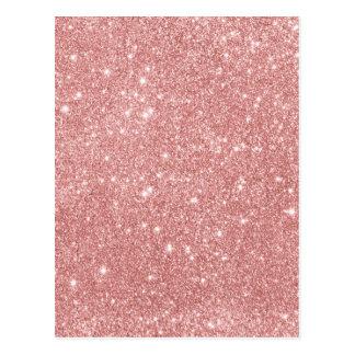 Cartão Postal Ouro cor-de-rosa do brilho luxuoso chique elegante