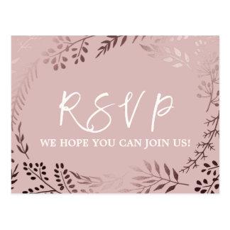 Cartão Postal Ouro cor-de-rosa elegante e escolha cor-de-rosa