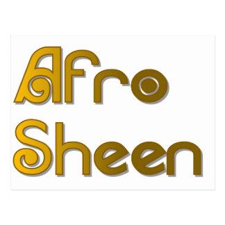 Cartão Postal Ouro de Sist- do brilho do Afro
