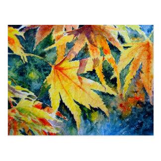 Cartão Postal Ouro do outono