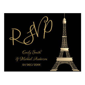 Cartão Postal Ouro preto de PARIS RSVP - tensão chique elegante