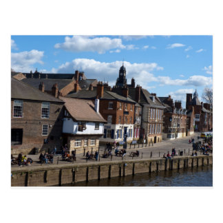 Cartão Postal Ouse do rio dos reis Staith York