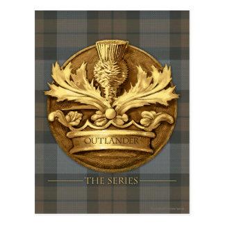 Cartão Postal Outlander | o cardo do emblema de Scotland