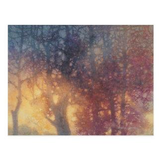 Cartão Postal Outono colorido