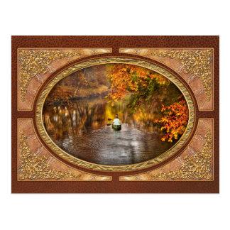Cartão Postal Outono - Cranford, NJ - explorando o desconhecido