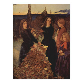 Cartão Postal Outono por John Everett Millais